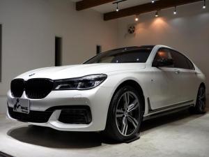 BMW 7シリーズ 740Li Mスポーツ 正規ディーラー車 1オーナ ベージュ革 Mパフォーマンス ブラックキドニーグリル シートヒーター カーボンルーフ カーボンミラー リアエンターテイメント ACC ジェスチャーコントロール 純正20AW