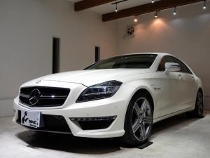 メルセデス・ベンツ CLSクラス CLS63 AMG 正規ディーラー車 アンドロイドモニター AppleCarPlay機能 フルセグTV ダイヤモンドホワイト クロ革シート 左H V8ツインターボ LEDヘッドライト 純正19AW SR ハーマンカードン