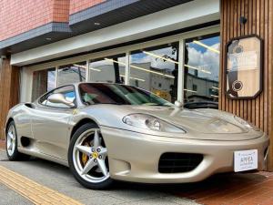 フェラーリ 360 モデナF1 正規D車 クラッチ残61%以上 ディーラー記録簿(H16.7〜H24.7 H26.7タイミングベルト交換 H28.7 H30.7) 七宝焼エンブレム アイボリー/レッド内装 パナソニック製9インチナビ