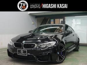 BMW M4 M4クーペ アダプティブMサス コンフォA 赤革 カーボンR ナビTV LEDヘッドライト ヘッドアップD OP19AW 2年保証付