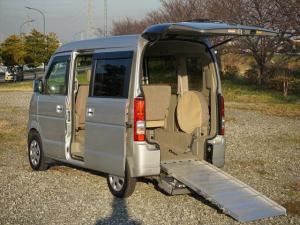 スズキ エブリイワゴン 車いす移動車4WDシートヒーター リヤヒーター4人乗モコン付