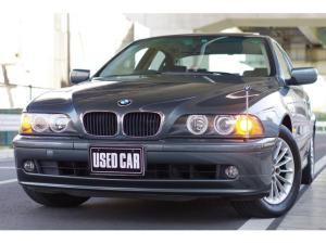 BMW 5シリーズ 525iハイライン チタングレー ワンオーナー ABS/ASCハイドロユニット交換済 D記録簿 サンルーフ ブラックレザー ETC