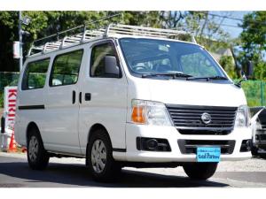 日産 キャラバン ロングDX ガソリン/2.000cc/5速AT/6人乗/両側スライドドア/スライドサイドウィンドウ/純正キーレス/日産純正ナビMS110-A/地デジ/ルーフキャリア/運転席パワーウィンドウ/運転席エアーバック