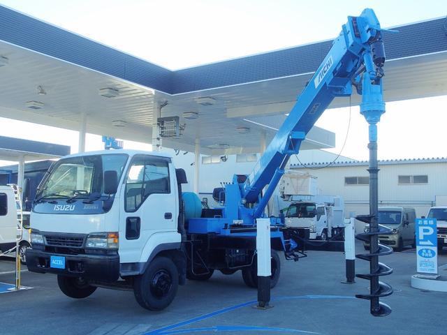 穴掘建柱車 アイチD805 2.9t クレーン NOx・PM非適合 車輌総重量7,855Kg 抜柱機付き