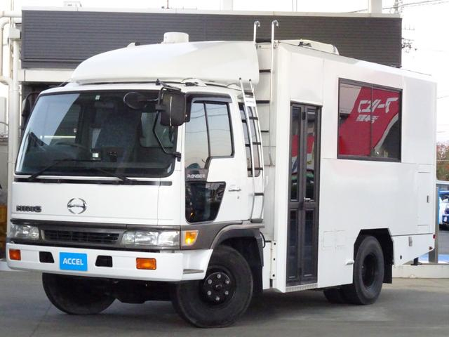4WD キャンピング 移動販売 移動事務室 ベース車 実走行7,678Km 6MT ディーゼル 215馬力 荷室クーラー