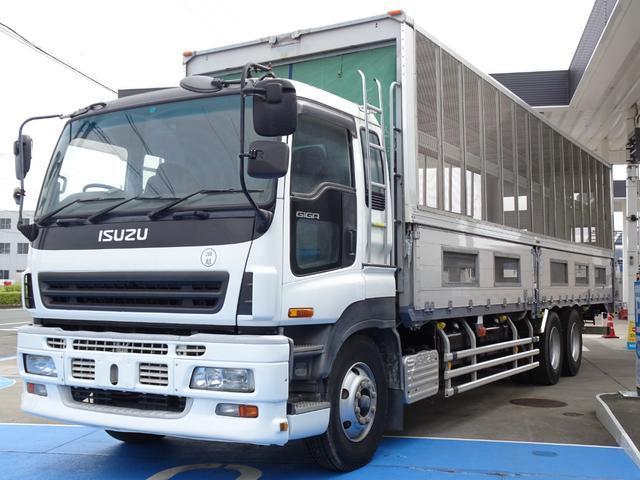 家畜運搬車仕様 最大積載14,100Kg 一時抹消中 スムーサー 3ペダル リアエアサス NOx・PM適合