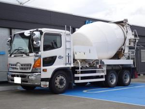 日野 ヒノレンジャー  新明和ミキサー車 増トン ドラム容量8.9立米 最大混合容量4.5立米 積載9,870Kg ナンバー付き 車検令和4年6月まで 新明和MW455-373S 3軸2デフ 電動ホッパー 280馬力 6MT