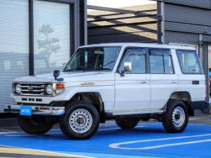 トヨタ ランドクルーザー70 LX 後期型 HZJ76V 1オーナー 4ナンバー AT車 メーカーオプション集中ドアロック・パワーウインド 寒冷地仕様車 リアヒーター付き ノーマル車両 1HZエンジン フロントコイル NOx・PM非適合