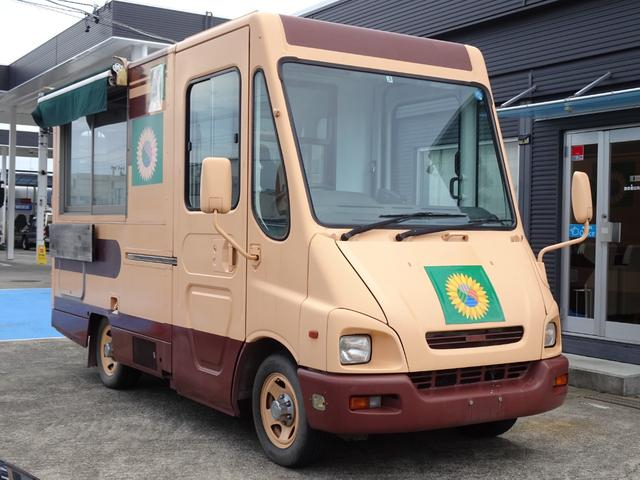 移動販売車 キッチンカー 8ナンバー 加工車登録 3層シンク コールドテーブル 作業台 換気扇