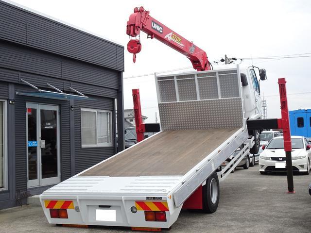 荷台長さ486cm×幅212cm×高さ23cm 4段クレーン ラジコン ロングジャッキ 三方アオリ付き 上物乗せ替え