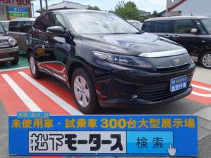 トヨタ ハリアー エレガンス/LEDヘッド/レザー調シート/革巻H アルミ