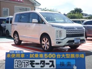 三菱 デリカD:5 G/4WD/8人/社外ナビ/両側電動/レンタ登録済未使用車