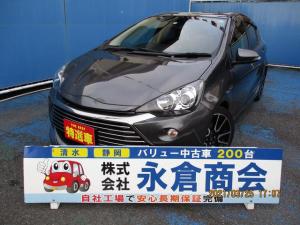 トヨタ アクア G G's メモリーナビ バックカメラ 地デジTV Bluetooth ハーフレザー シートヒーター ETC フォグ 17インチアルミ