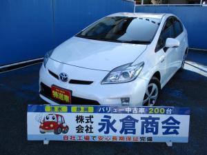 トヨタ プリウス S メモリーナビ バックカメラ 地デジTV Bluetooth スマートキー ETC オートライト HID フォグ 純正アルミ