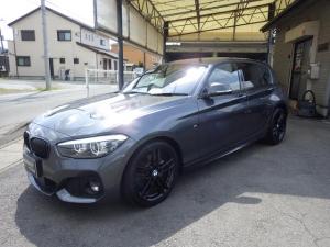 BMW 1シリーズ 118d Mスポーツ エディションシャドー ディーゼルターボ Mスポーツアルミ エアロ キャメルレザーシート 前席シートヒーター LEDライト フォグ HDDナビ バックカメラ USB Bluetooth スマートキー アイドリングストップ