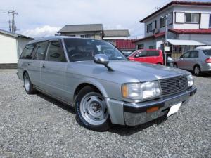 トヨタ クラウンバン コラムオートマ改6人乗りローダウン 白レタータイヤホイル新品