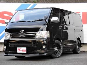 トヨタ レジアスエースバン スーパーGLプライムセレション 2WD ガソリン AT ローダウン 純正メモリーナビフルセグTV バックカメラ HID ETC デイトナ16インチホイール フロントスポイラー