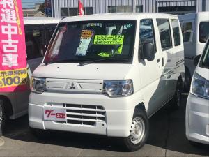 三菱 ミニキャブバン CD パートタイム4WD エアコンパワステ Wエアバック ABS 両側スライドドア