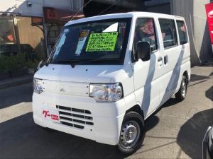 三菱 ミニキャブバン CD パートタイム4WD エアコン パワステ Wエアバック 両側スライドドア