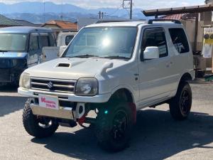 スズキ ジムニー ワイルドウインド リフトアップ キーレス 5速マニュアル フル装備 4WD アルミホイール ETC 電動格納ミラー 社外パーツ 背面タイヤ ルーフレール