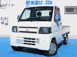 三菱 ミニキャブトラック Vタイプ 5MT エアコン パワステ 三方開き 社外アルミ ETC ヘッドライトレベライザー 記録簿 保証書 取説