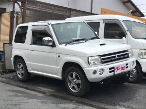 三菱 パジェロミニ アクティブフィールドエディション 4WD 純正アルミ ターボ