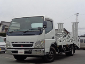 三菱ふそう キャンター 2台積載車 ラジコン ウィンチ 細谷車体 最大積載3.75t