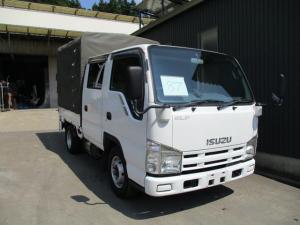 いすゞ エルフトラック  87番 1.5t Wキャブ ホロ 垂直パワーゲート600kg キーレス ETC 幌 荷台内寸:185×160 総重量5t未満