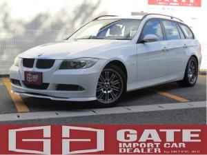 BMW 3シリーズ 320iツーリング 正規ディーラー車 純正ナビ ETC キーレス Mスポアルミ Pスタート パワーシート AUX キセノン AAC AUTOライト WエアB ABS フルフラット 電格ミラー MTモード