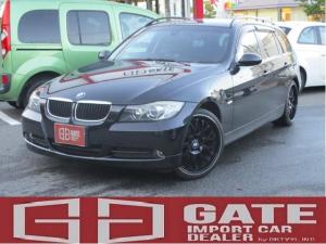 BMW 3シリーズ 320iツーリング ハイラインパッケージ 正規ディーラー車 社外ナビDVD再生 19アルミ パワーシート 黒皮シート キーレス Sキー  ETC キセノン AAC MTモード WエアB ABS パワステ フルフラット 電格ミラー