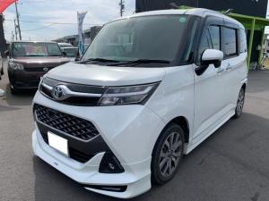 トヨタ タンク カスタムG-T 1オーナー車 モデリスタエアロ 社外ナビ Bluetoothオーディオ接続可能 両側パワースライド スマートアシスト LEDヘッドライト シートヒーター バックカメラ ETC