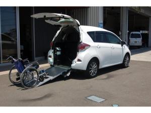 トヨタ ラクティス X 福祉車両スロープ 純正ナビバックモニター 車いす1名+3名乗車または5名乗車 車いす移動車スローパー 全国1年保証