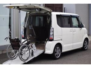 ホンダ N-BOX+  ウェルキャブ リアスロープ 4名乗車可 車いす1基仕様車 福祉車輌 ナビTV 後退防止ベルト 電動ウインチ パワースライドドア 禁煙車 ETC  オートエアコン HID オートライト