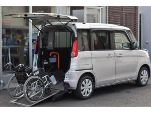 スズキ スペーシア  車いす移動車 リアシート付 1オーナー 禁煙車 カロッツェリアナビ 地上デジタルTV レーダーブレーキサポート 誤発進抑制機能 Bluetooth リアスロープ 4名乗車可 電動ウインチ リモコン付