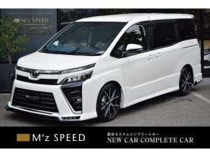 トヨタ ヴォクシー ZS 7人乗 ZEUS新車カスタムコンプリートカー!エアロ(F/R)・ダウンサス・マフラー・18インチAW・アルパインナビ・ETC・カメラ。両側電動スライドドア付。