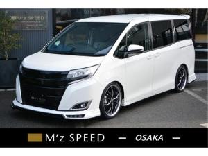 トヨタ ノア X 7人乗 7人乗 ZEUS新車カスタムコンプリートカー!エアロ(F/S/R)・グリル・FT・アイライン・リアウィング・マフラー・車高調・19インチAW・アルパインナビ・ETC・バックカメラ。両側電動付。