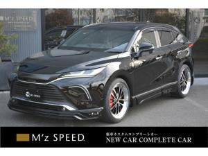 トヨタ ハリアー G ZEUS新車カスタムコンプリートカー・エアロ3点・AESグリル・ABSリアゲートスポイラー・ピラー・ダウンサス・22インチ・チタンマフラー・LEDバックフォグ・キャリパーカバー・BSM・ETC2.0