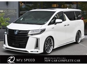 トヨタ アルファードハイブリッド エグゼクティブラウンジS ZEUS新車カスタムコンプリートカー・エアロ3点・グリル・FT・車高調・22インチ・マフラー・メッキピラー・10.5型ディスプレイ・置くだけ充電・ツインムーンルーフ・ITS・ACコンセント