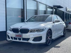 BMW 3シリーズ 320i ハイラインパッケージ/ブラックレザー/BEAMフルエアロ/BEAM20インチアルミ/BEAM4本出マフラー/ローダウン/カーボンスポイラー/ワンオーナー/ハイグロスブラックトリム/アンビエントライト/