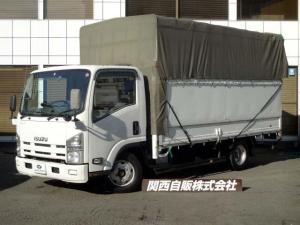 いすゞ エルフトラック ワイドロングオープントップ幌 2t NOX適合