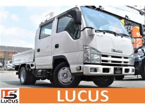 いすゞ エルフトラック Wキャブフラットロー Wキャブ入 PW PS ATマニュアルモード付 ETC ルーフキャリア 積載2000kg