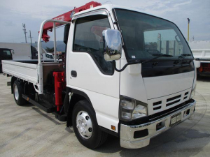 いすゞ エルフトラック  4段クレーン ラジコン付 積載3.4t