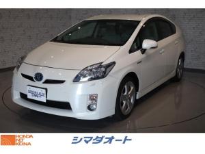 トヨタ プリウス Sツーリングセレクション 純正SDナビ 電動コーナーポール