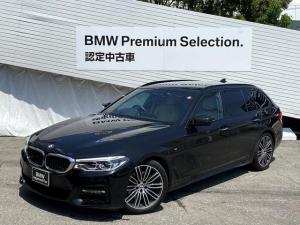 BMW 5シリーズ 523dツーリングMスポーツ認定保証1オーナ白革地デジ全周囲