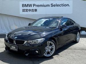 BMW 4シリーズ 420iクーペ Mスポーツ 認定保証付・純正HDDナビゲーション・純正18インチアロイホイール・サンルーフ・バックカメラ・アクティブクルーズコントロール・地デジチューナー・ミラー内蔵ETC・オートエアコン・車線逸脱警告システム