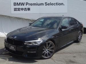 BMW 5シリーズ 523d Mスポーツ 純正HDDナビ バックカメラ ヘッドアップディスプレ- ブラックレザ- LEDヘッドライト 20インチアルミ 衝突軽減ブレ-キ レ-ンディパ-チャ- アクティブクル-ズコントロ-ル G30