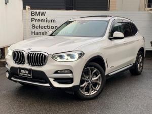 BMW X3 xDrive 20d Xライン セレクトPKG パノラマサンルーフ ハーマンカードンスピーカー 純正HDDナビ 全周囲カメラ 純正19インチAW ブラックレザーシート シートヒーター アクティブクルーズ オートトランク