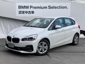 BMW 2シリーズ 218dアクティブツアラー 弊社元デモカー 純正HDDナビ バックカメラ PDCセンサー 純正16インチAW LEDヘッドライト シートヒーター 電動テールゲート Bluetooth接続 ミラーETC オートエアコン 認定保証
