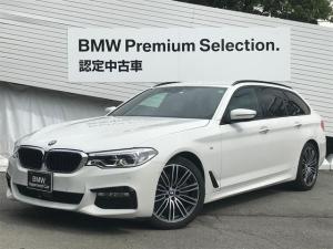 BMW 5シリーズ 523dツーリング Mスポーツ デビューパッケージ 黒レザー 前後シートヒーター 全周囲カメラ アクティブクルーズコントロール LEDヘッドライト インテリジェントセーフティー パワーシート 純正HDDナビ PDCセンサー 純正AW