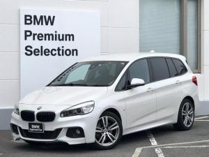 BMW 2シリーズ 218iグランツアラー Mスポーツ 認定保証・コンフォートパッケージ・アドバンスドパーキングサポート・衝突軽減ブレーキ・レーンディパーチャーウォーニング・電動リアゲート・バックカメラ・PDCセンサー・ミラーETC・純正HDDナビ・F46